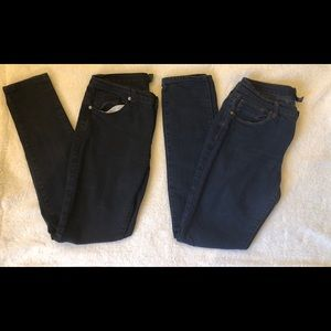 Lot - Forever 21 Skinny Jeans in Blue AND Black